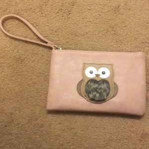 Owl fur wristlet